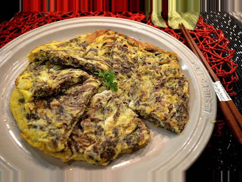 紫菜銀魚煎蛋