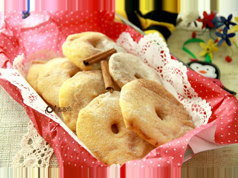 雪花蘋果甜甜圈