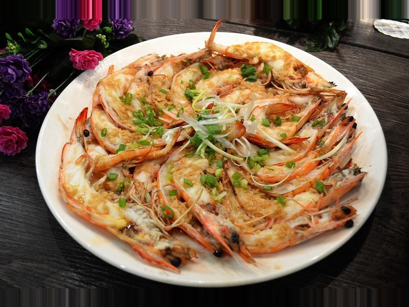 簡易醬汁蒜泥蒸蝦