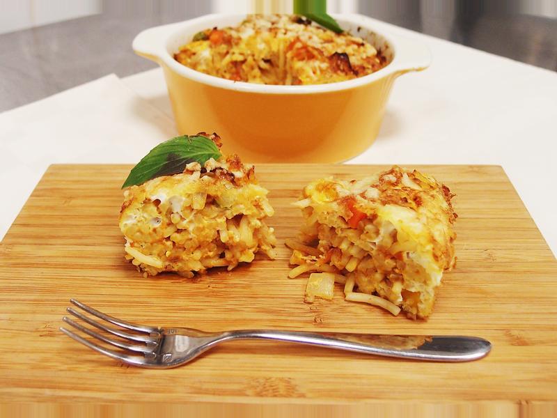 【懶小希】輕鬆料理:義大利麵烘蛋