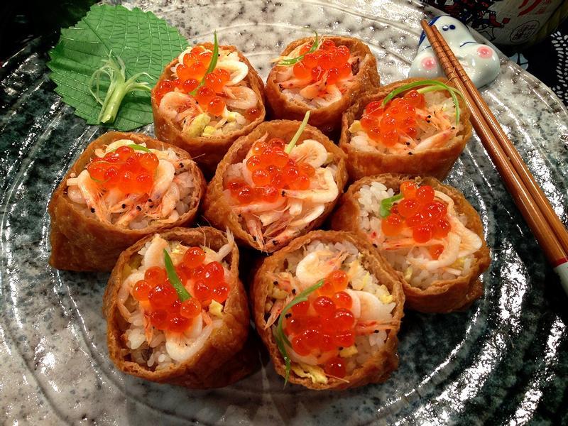 櫻花蝦魚子腐皮壽司