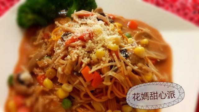 蘑菇茄汁義大利麵