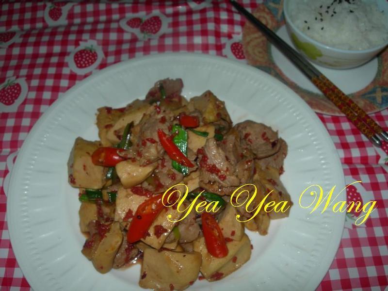 紅麴醬爆豆干片