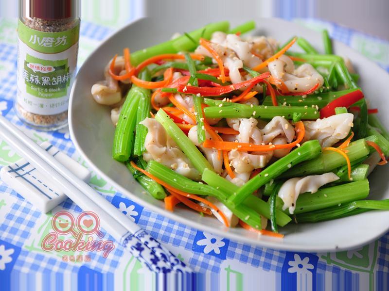 芹菜炒魚肚