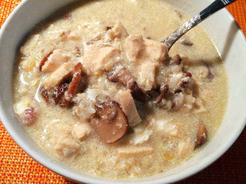 奶油蘑菇雞肉粥