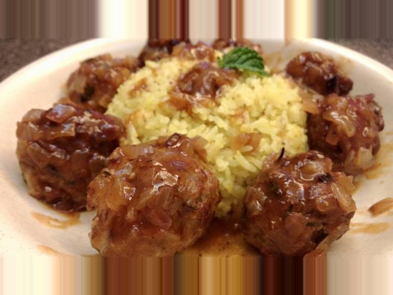 上菜囉! 改良版莓果燉肉丸飯