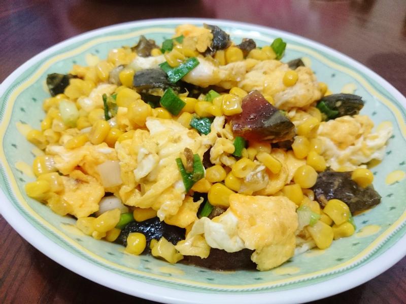 玉米炒雙蛋