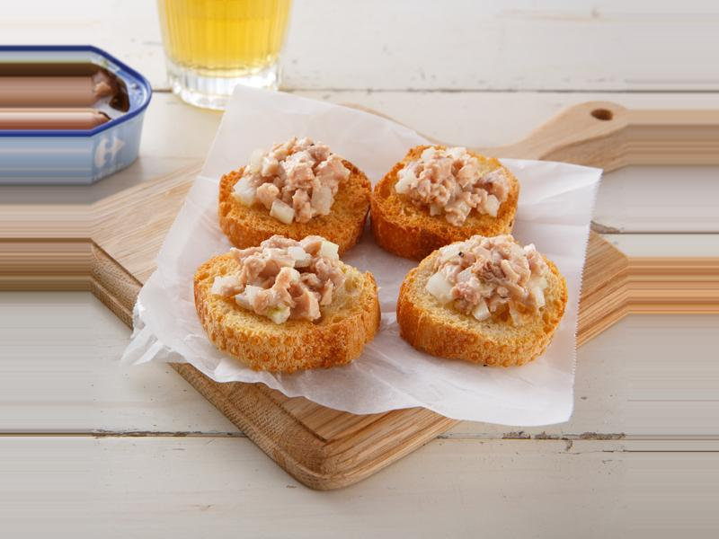 鱈魚肝醬麵包片