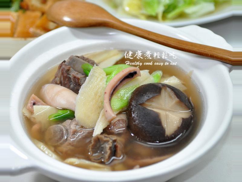 冬筍魷魚螺蒜湯