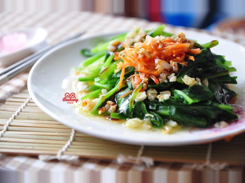 【黑鼎傳奇】油煸蒜香菠菜