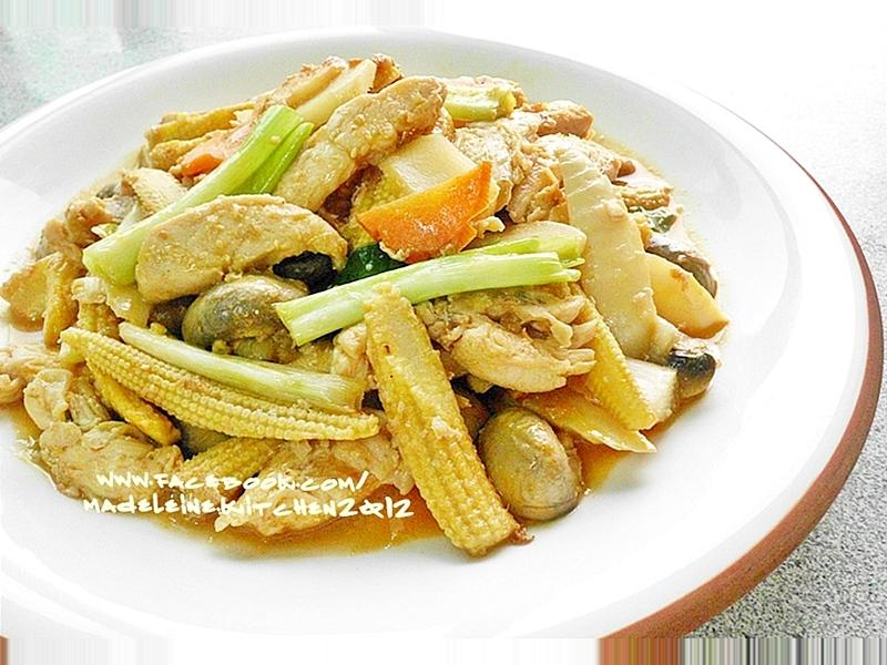 雙筍蘑菇炒雞柳