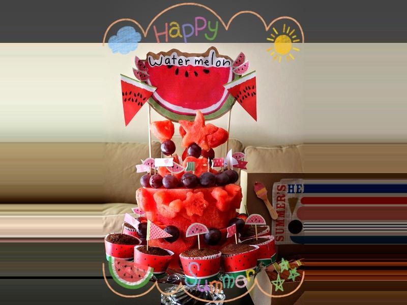 水果西瓜蛋糕 ❤!!!