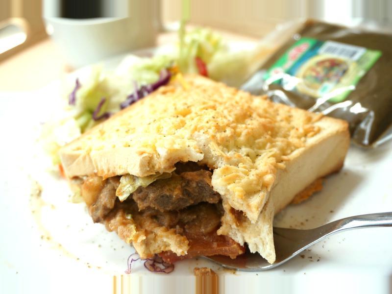 焗烤咖哩口袋三明治