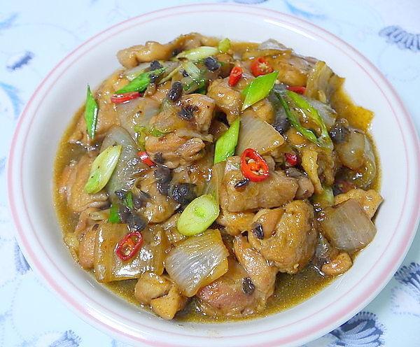 豆豉燒雞腿