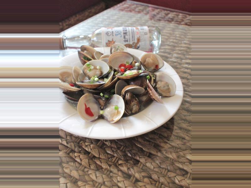 酒蒸蛤蠣~金門高粱飄香料理