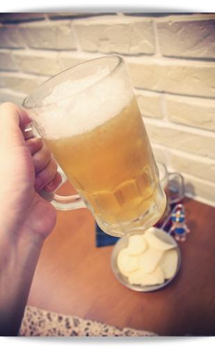 """乾杯!!~偽啤酒""""蘋果果凍"""""""