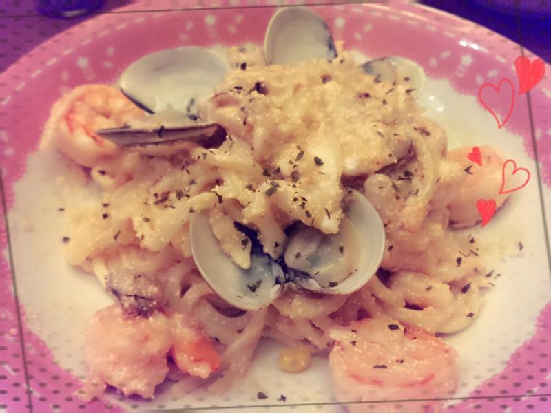 明太子海鮮義大利麵