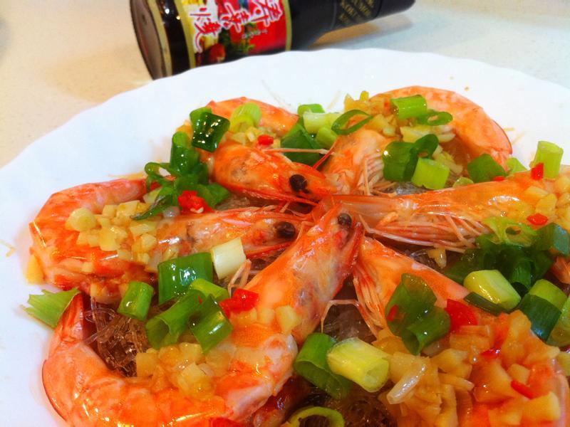 蒜蓉蒸蝦-穀盛壽喜燒