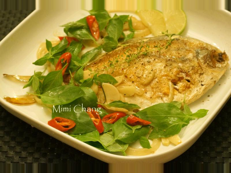 Mimi♥香草白鯧(水煮魚)