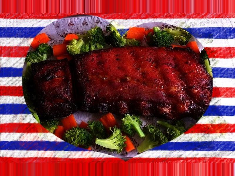 美式炭烤豬肋排