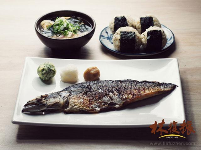 三味球薄鹽鯖魚套餐-兩人小餐桌