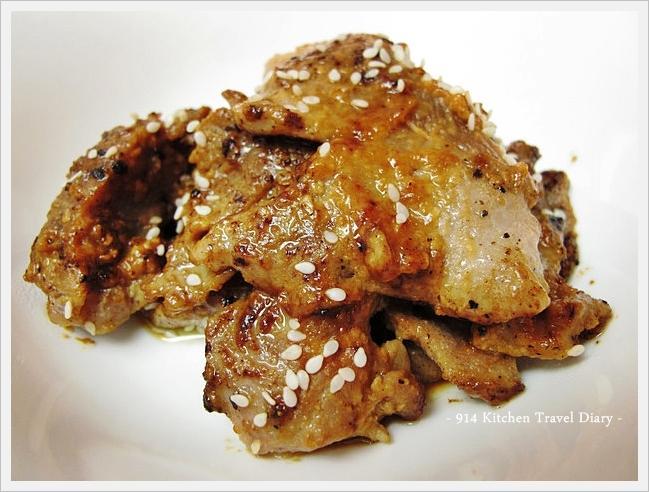 【深夜食堂】芝麻味增豬肉片
