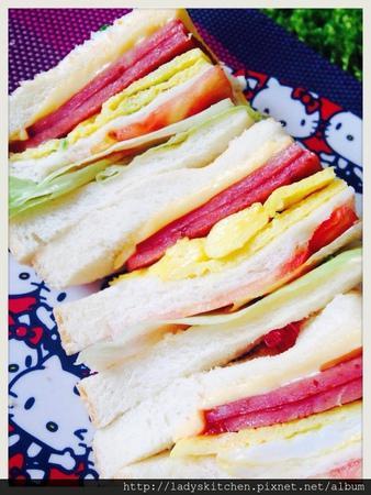 【空姐愛煮菜】青蔬火腿起士三明治