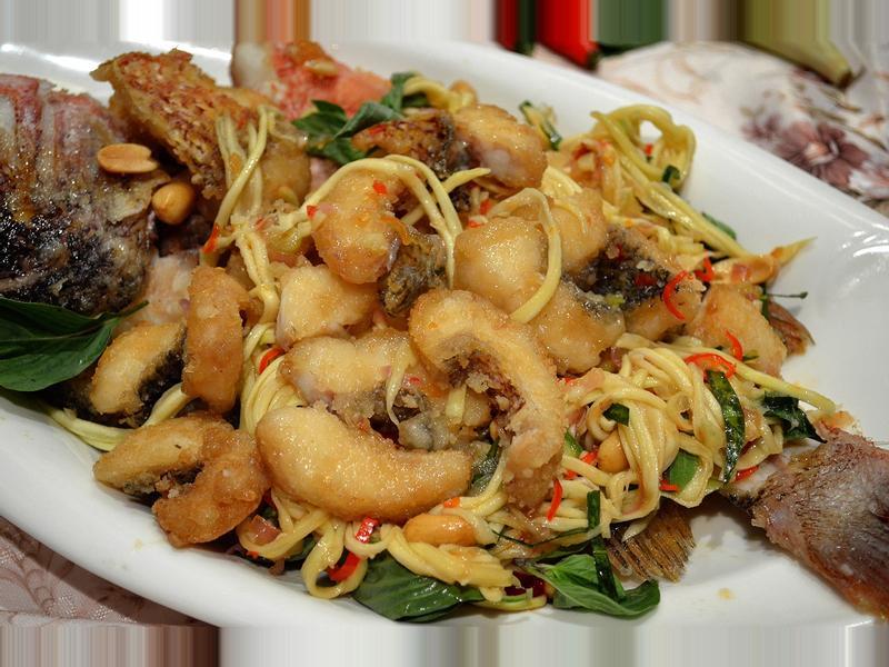 泰式炸魚伴青芒果