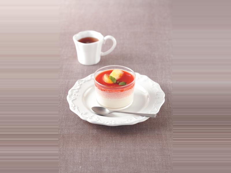 番茄也能這樣做:番茄牛奶凍