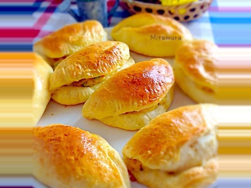 明蝦馬鈴薯沙拉麵包