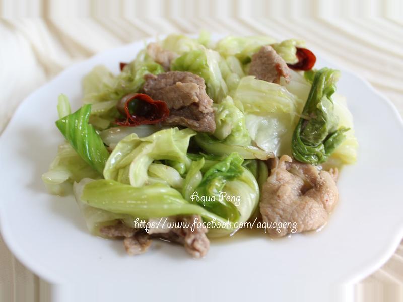 酸溜高麗菜炒肉片│臺東農產好料理
