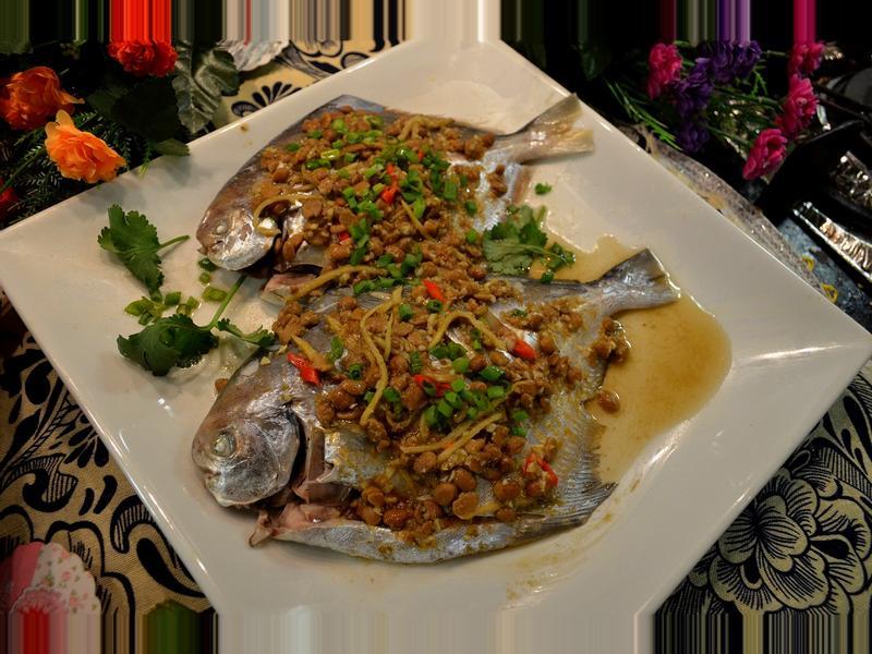 豆醬蒸鯧魚