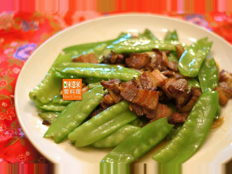 Mimi♥臘肉炒荷蘭豆