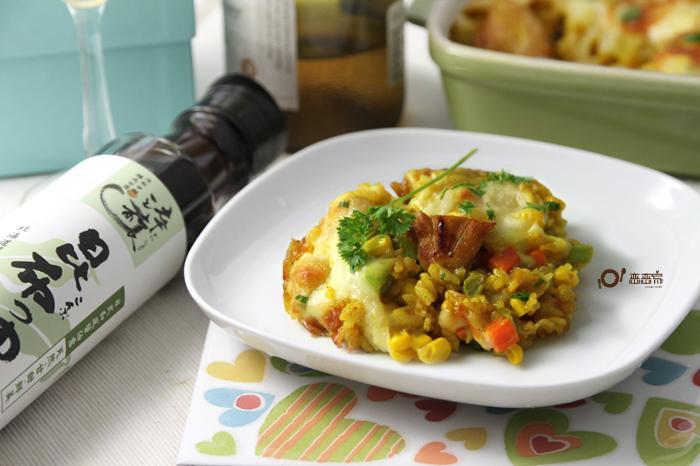 嫩雞焗烤飯「時間淬釀的甘露之味」