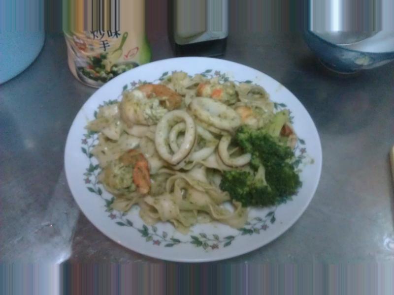 青醬海鮮拉麵