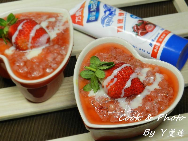 草莓米布丁~草莓就愛鷹牌煉奶