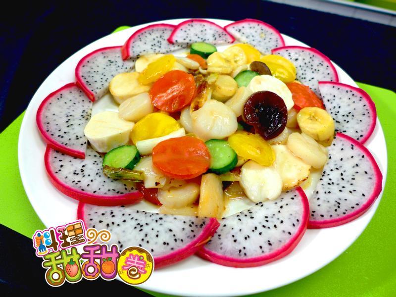 料理甜甜圈【國宴主廚上菜】干貝百葉豆腐