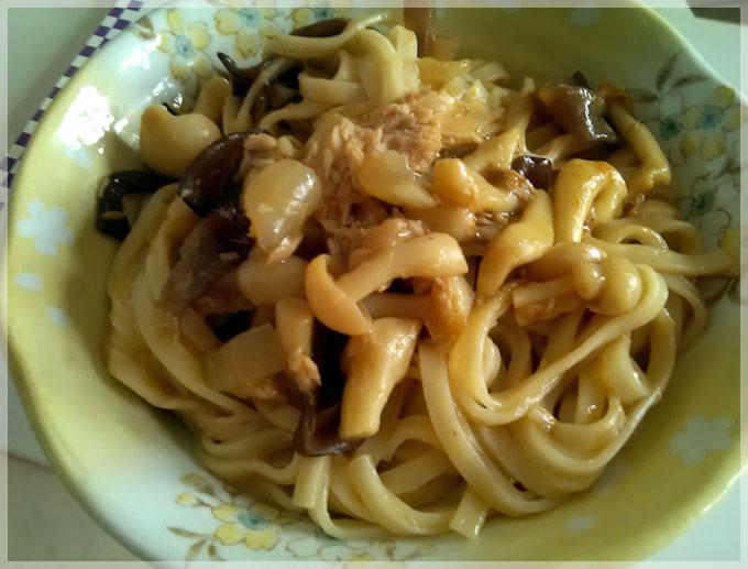 咖哩鮪魚炒麵〞五木麵條
