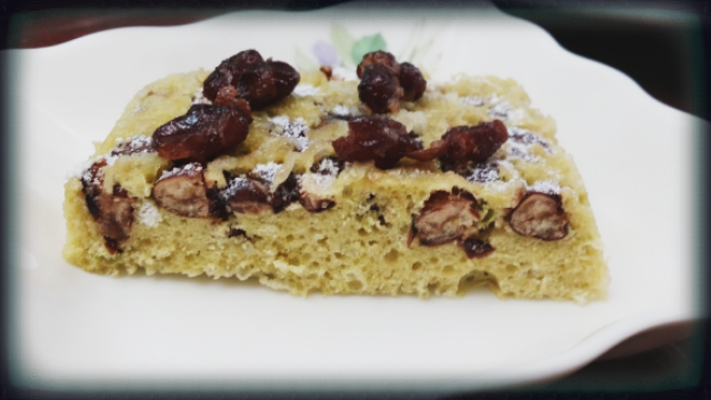 5分鐘抹茶紅豆蛋糕《有趣的微波食譜》