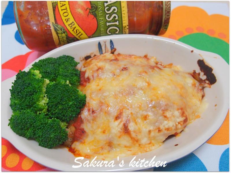 ♥我的Classico義大利麵醬♥焗烤茄醬魚排。