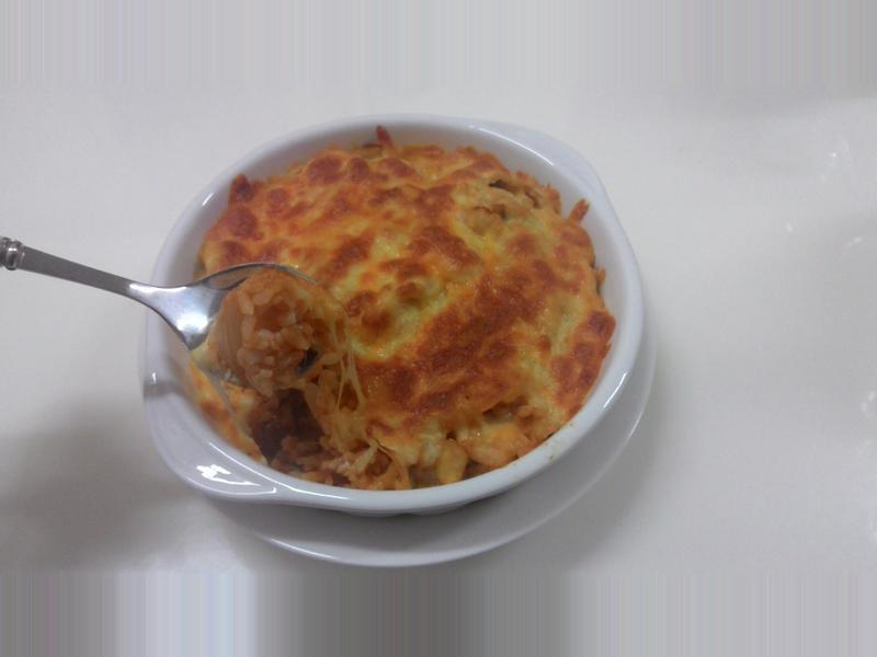 蕃茄雞肉焗烤奶油飯