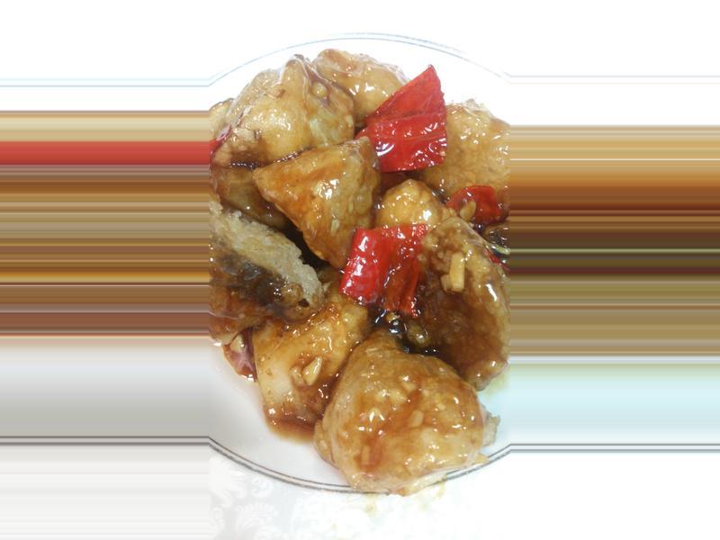 素餐~左宗棠雞(杏包菇)家樂福廚神大賽