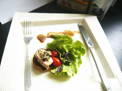 煙燻鱈魚肝沙拉(家樂福廚神大賽)