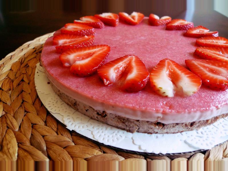 免烤箱草莓起士蛋糕