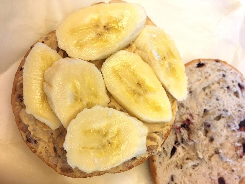 香蕉焦糖核桃起士藍莓貝果