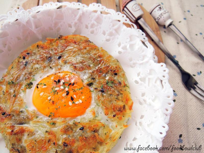 免烤箱,免油炸的马铃薯蛋鸟巢