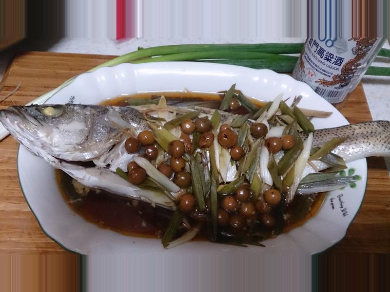 『金門高粱飄香料理』~破布子鱸魚