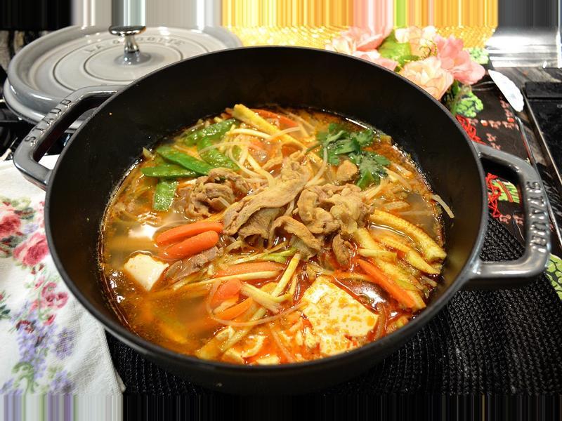 咖喱羊肉蔬菜煲