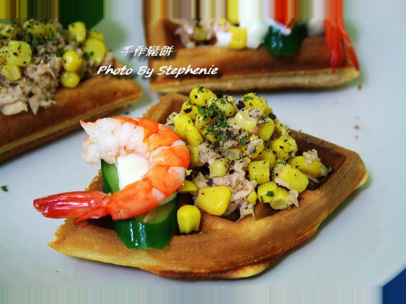 蔬食沙拉鬆餅