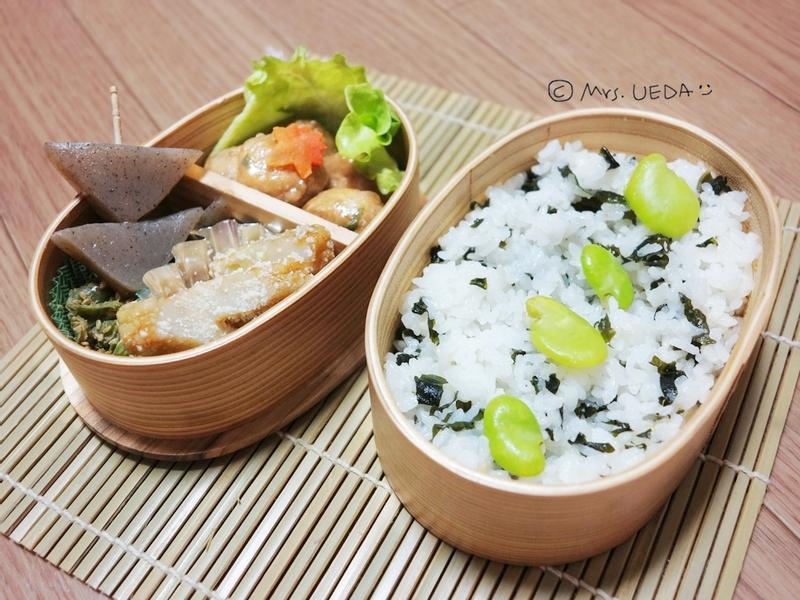 日式明太子海帶紫蘇拌飯便當